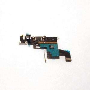 iPhone 6 Latausportti flex-kaapeli + kuulokeliitäntä + mikrofoni Valkoinen