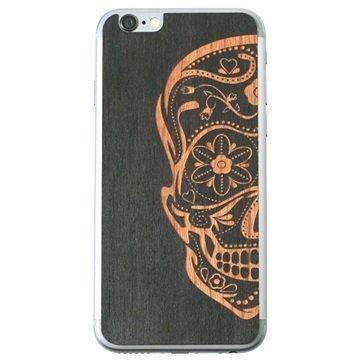 iPhone 6 Lazerwood Suojakalvo Sugar Skull Musta