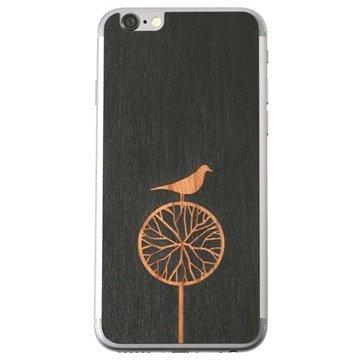 iPhone 6 Lazerwood Suojakalvo Treebird Musta