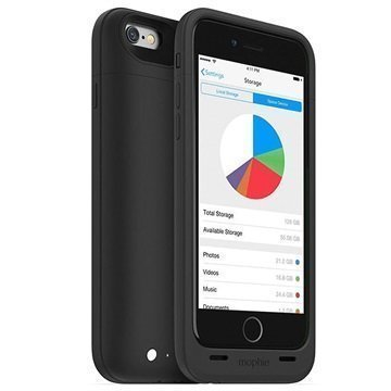 iPhone 6 Mophie Space Pack Akkukotelo 64GB Musta