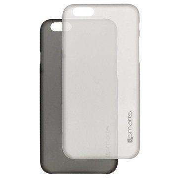 iPhone 6 Plus / 6S Plus 4smarts Bellevue Clip Ultraohut Kotelosarja Musta & Valkoinen
