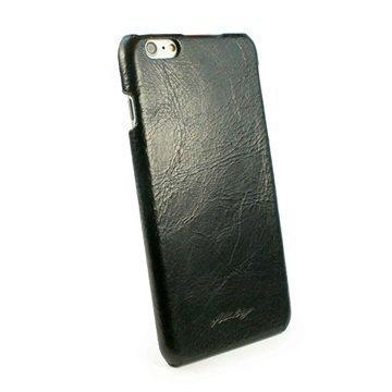 iPhone 6 Plus / 6S Plus Alston Craig Slim-Shell Vintage Nahkakotelo Musta