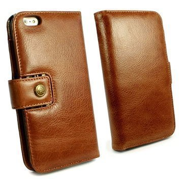 iPhone 6 Plus / 6S Plus Alston Craig Vintage Avattava Nahkakotelo Ruskea
