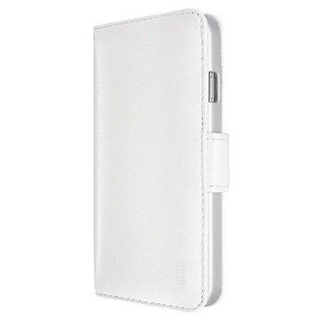 iPhone 6 Plus / 6S Plus Artwizz SeeJacket Nahkakotelo Läpällä Valkoinen
