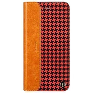 iPhone 6 Plus / 6S Plus Baseus Collocation Series Nahkainen Läppäkotelo Houndstooth