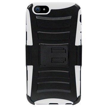 iPhone 6 Plus / 6S Plus Beyond Cell Armor Combo Suojakotelo Musta / Valkoinen