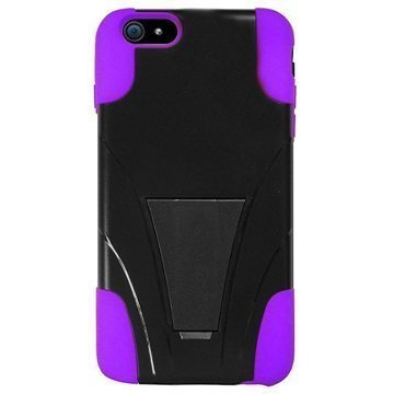 iPhone 6 Plus / 6S Plus Beyond Cell Hyber Shell Kotelo Musta / Violetti