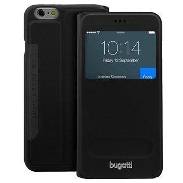 iPhone 6 Plus / 6S Plus Bugatti BookCover Lausanne Kotelo Musta