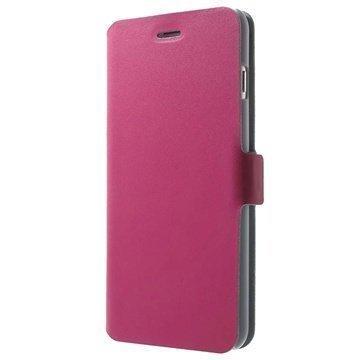 iPhone 6 Plus / 6S Plus Doormoon Nahkainen Lompakkokotelo Kuuma Pinkki
