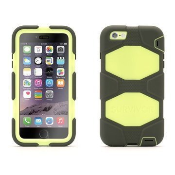 iPhone 6 Plus / 6S Plus Griffin All-terrain Kotelo Oliivi / Limetti