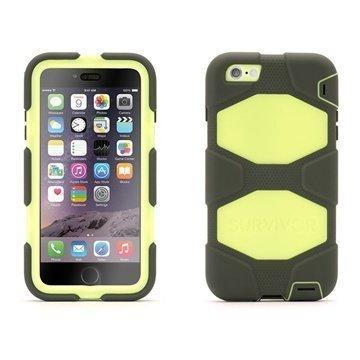 iPhone 6 Plus / 6S Plus Griffin All-terrain Kotelo Oliivi / Limetti