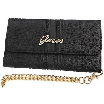 iPhone 6 Plus / 6S Plus Guess Heritage Clutch Kotelo Musta