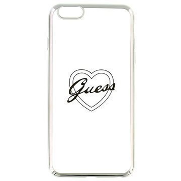 iPhone 6 Plus / 6S Plus Guess Signature TPU-Kotelo Sydän Hopea