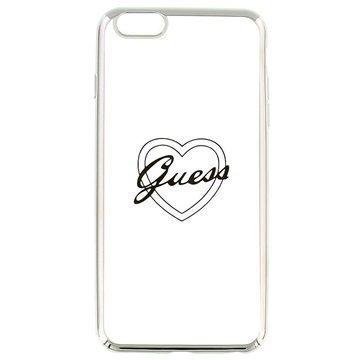 iPhone 6 Plus / 6S Plus Guess Signature TPU-Kotelo Sydän Hopea