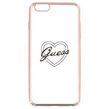 iPhone 6 Plus / 6S Plus Guess Signature TPU-Kotelo Sydän Ruusukulta