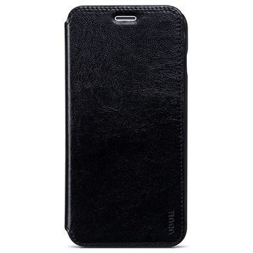 iPhone 6 Plus / 6S Plus Hoco Crystal Series Classic Flip Case Black