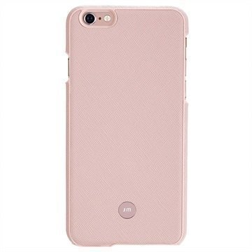 iPhone 6 Plus / 6S Plus Just Mobile Quattro Back Nahkakotelo Vaaleanpunainen