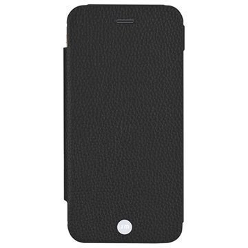 iPhone 6 Plus / 6S Plus Just Mobile Quattro Folio Nahkakotelo Musta