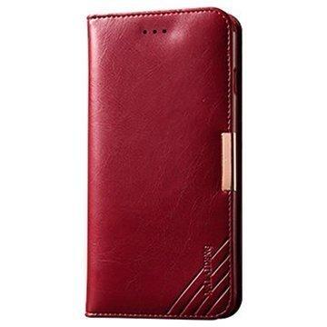 iPhone 6 Plus / 6S Plus Kalaideng Royale II Lompakkomallinen Nahkakotelo Punainen