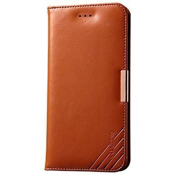 iPhone 6 Plus / 6S Plus Kalaideng Royale II Lompakkomallinen Nahkakotelo Ruskea