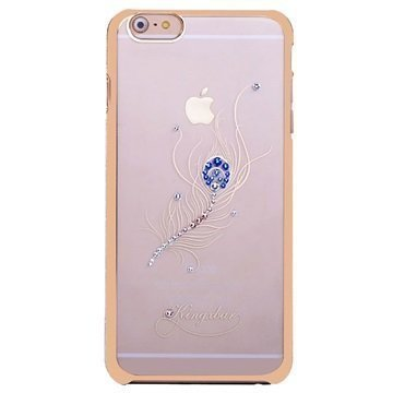 iPhone 6 Plus / 6S Plus Kingxbar Swarovski Crystal Suojakotelo Riikinkukon Sulka