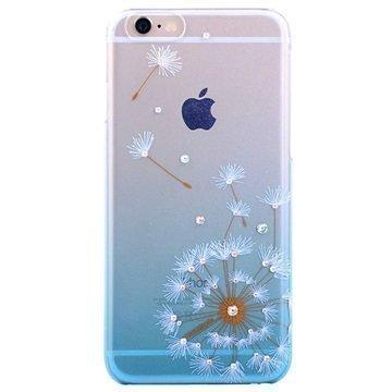 iPhone 6 Plus / 6S Plus Kingxbar Swarovski Crystal Suojakotelo Voikukka Sininen