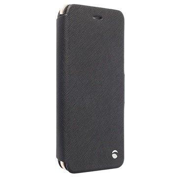 iPhone 6 Plus / 6S Plus Krusell Malmö Lompakkomallinen Nahkakotelo Musta