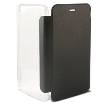 iPhone 6 Plus / 6S Plus Ksix Folio Kotelo Läpinäkyvä / Musta
