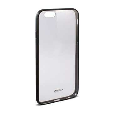 iPhone 6 Plus / 6S Plus Ksix Fusion Kova Suojakuori Läpinäkyvä / Musta
