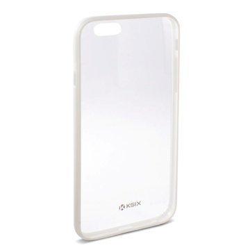 iPhone 6 Plus / 6S Plus Ksix Fusion Kova Suojakuori Läpinäkyvä / Valkoinen