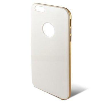 iPhone 6 Plus / 6S Plus Ksix Hybrid Kova Kotelo Valkoinen / Kulta