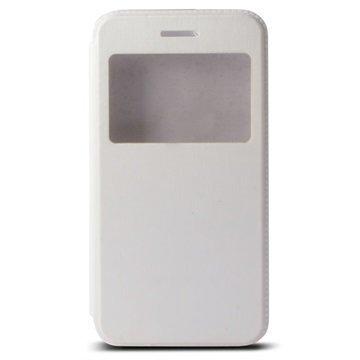 iPhone 6 Plus / 6S Plus Ksix Ikkunallinen Seisontatuki Foliokotelo Valkoinen