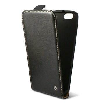 iPhone 6 Plus / 6S Plus Ksix Vertical Flip Leather Case Black