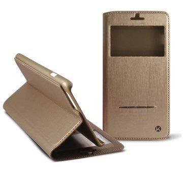 iPhone 6 Plus / 6S Plus Ksix Window Folio Case Gold