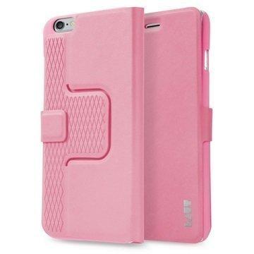 iPhone 6 Plus / 6S Plus Laut R-Evolve Pyörivä Smart Folio Kotelo Vaaleanpunainen