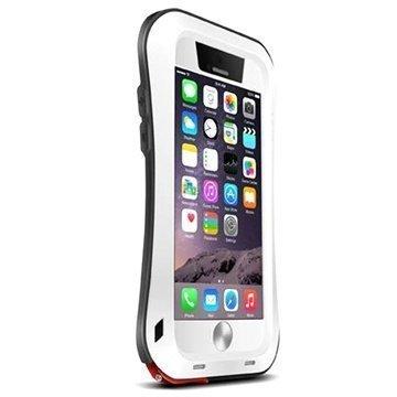iPhone 6 Plus / 6S Plus Love Mei Powerful Hybrid Suojakuori Valkoinen