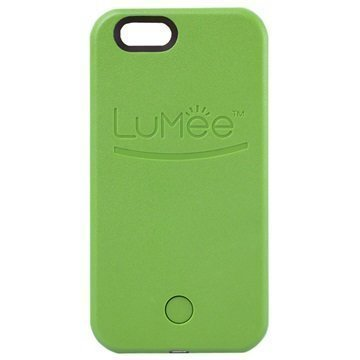 iPhone 6 Plus / 6S Plus LuMee LED-Valaistu Selfie-Kotelo Vihreä
