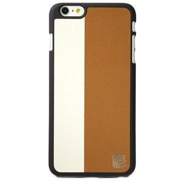 iPhone 6 Plus / 6S Plus Maroo The Aura Plus Kotelo Vaaleanruskea / Valkoinen
