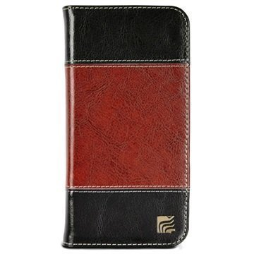 iPhone 6 Plus / 6S Plus Maroo The Bronson Plus Wallet Leather Case Black / Brown