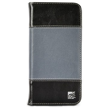iPhone 6 Plus / 6S Plus Maroo The Slate Plus Wallet Leather Case Black / Grey