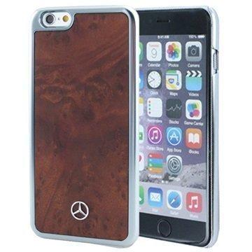 iPhone 6 Plus / 6S Plus Mercedes Benz Kova Kotelo Ruskea