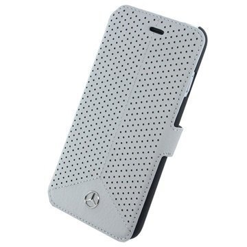 iPhone 6 Plus / 6S Plus Mercedes-Benz Pure Line Lompakkokotelo Harmaa