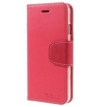 iPhone 6 Plus / 6S Plus Mercury Newsets Lompakkokotelo Kuuma Pinkki