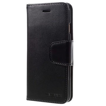 iPhone 6 Plus / 6S Plus Mercury Newsets Lompakkokotelo Musta