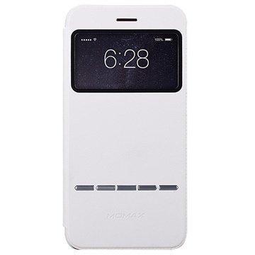 iPhone 6 Plus / 6S Plus Momax View Slide Läpällinen Nahkakotelo Valkoinen