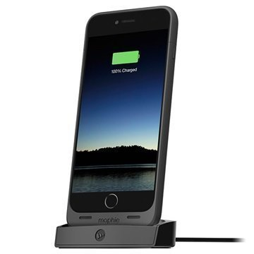 iPhone 6 Plus / 6S Plus Mophie Juice Pack Telakka Musta