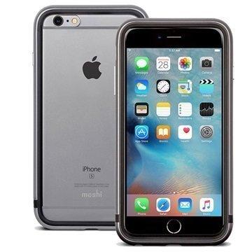 iPhone 6 Plus / 6S Plus Moshi iGlaze Luxe Metal Suojareunuskotelo Titaaninharmaa