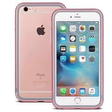 iPhone 6 Plus / 6S Plus Moshi iGlaze Luxe Metal Suojareunuskotelo Vaaleanpunainen