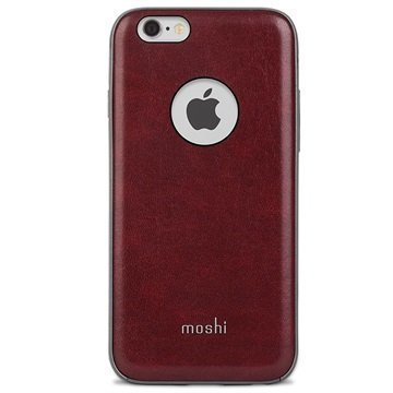 iPhone 6 Plus / 6S Plus Moshi iGlaze Napa Kotelo Burgundinpunainen
