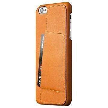 iPhone 6 Plus / 6S Plus Mujjo 80 Degree Nahkakotelo Keltaruskea